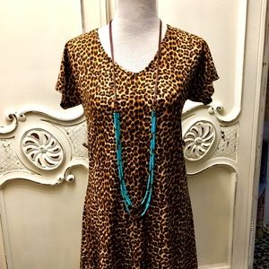 Jewelry - Long Turquoise Suede Necklace